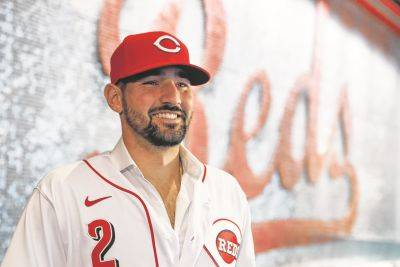 Nick Castellanos, signed as a free agent during the offseason, could be used as the Cincinnati Reds' primary designated hitter should the National League use the DH full time this season.