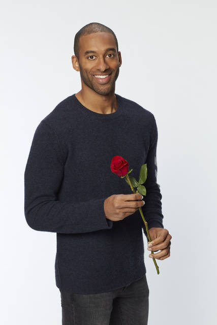 "This image released by ABC shows Matt James, who will be the next bachelor on the 25th season of the romance reality series ""The Bachelor."" (Craig Sjodin/ABC via AP)"