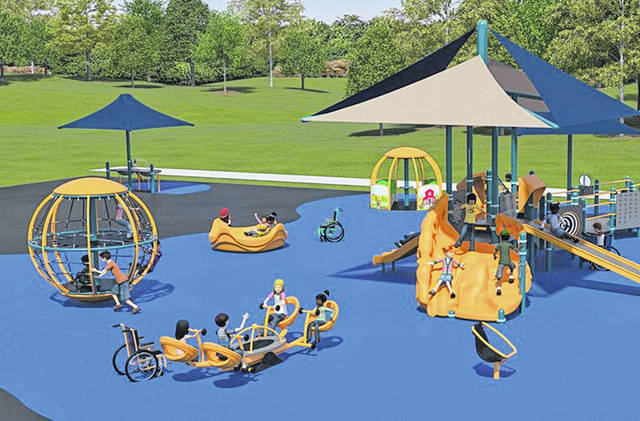 A rendering of the future playground.