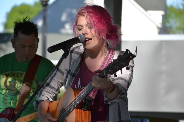 Kaitlyn Schmit and the Move performed Sunday for the Delphos Rotary Club's Music in the Parks Series.