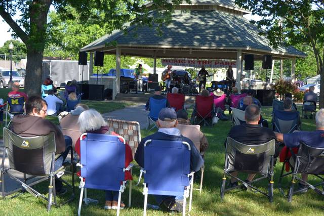 The Music in the Park series at Delphos' Stadium Park brought out a large crowd Sunday night to see Kaitlyn Schmit and the Move.