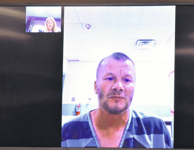 Jeffrey England, 40, appeared in Lima Municipal Court via video conferencing Monday for his arraignment on charges of aggravated arson. A preliminary hearing for England was scheduled for 10 a.m. Thursday in municipal court.