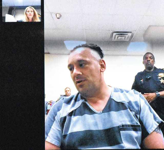 Joseph Cheney, 43, of Lima, appeared via video in Lima Municipal Court Monday for his arraignment hearing on a charge of suspicion of murder. Cheney, charged with killing his mother last week, responded with an obscenity-laced tirade directed at Judge Tammie Hursh.