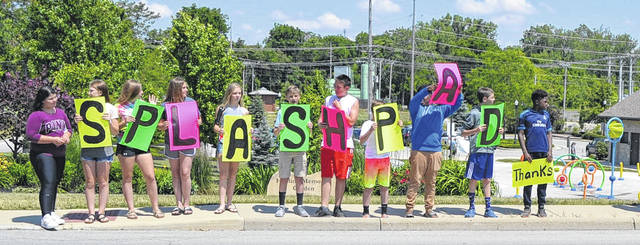 Students from West Intermediate School in St. Marys were in fourth grade when they proposed a splash pad for Mill Park. They're now entering eighth grade.