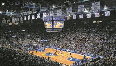 The University of Kansas athletic department is preparing to deal with having far fewer fans attend Jayhawks basketball games at Allen Fieldhouse in Lawrence, Kan., which has a capacity of more than 16,000.