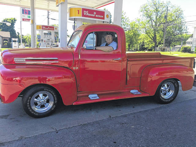 """Jim and Phud Calvelage's truck was painted """"Racer Red"""" by their son-in-law, T.J. Wiley. One word describes the Delphos couple's 1950 Ford truck— Nice!"""