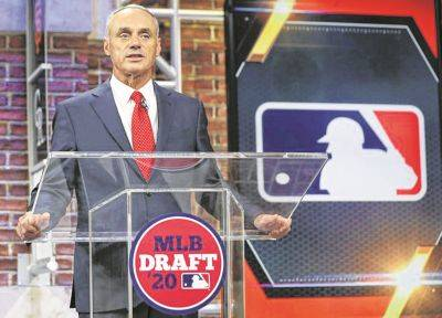 Commissioner Robert D. Manfred Jr. opens the Major League Baseball amateur draft Wednesday night in Secaucus, N.J.