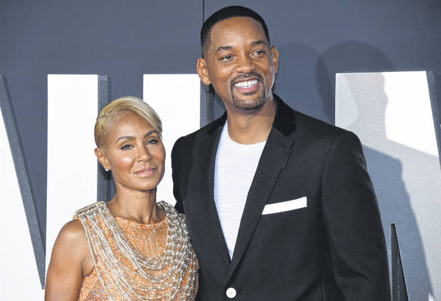 "Jada Pinkett Smith, left, and her husband Will Smith attend the premiere of ""Gemini Man"" in Los Angeles in October 2019. Pinkett Smith admitted to having a relationship with musician August Alsina when she and her husband were separated."