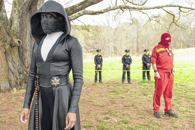 "This image released by HBO shows Regina King in a scene from ""Watchmen."" The series was nominated for an Emmy Award for outstanding limited series on Tuesday. King was also nominated for outstanding lead actress in a limited series or movie."