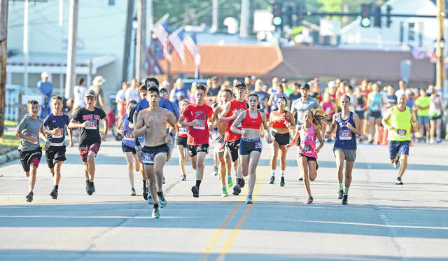More than 100 runners competed in the 5K on the Lake at Lakeview Saturday.