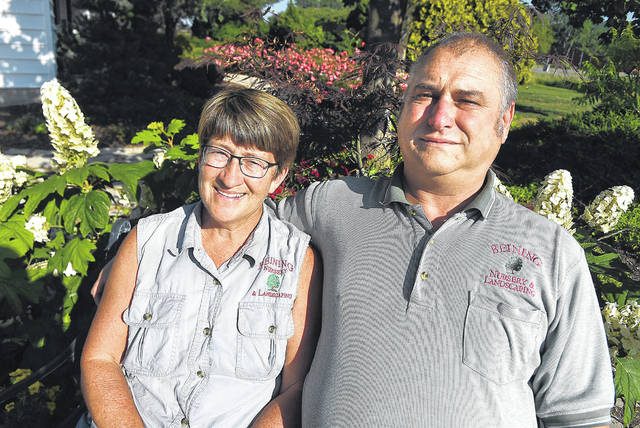 Cheryl and Tom Beining, owners of Beining Nursery & Landscaping in Cloverdale.