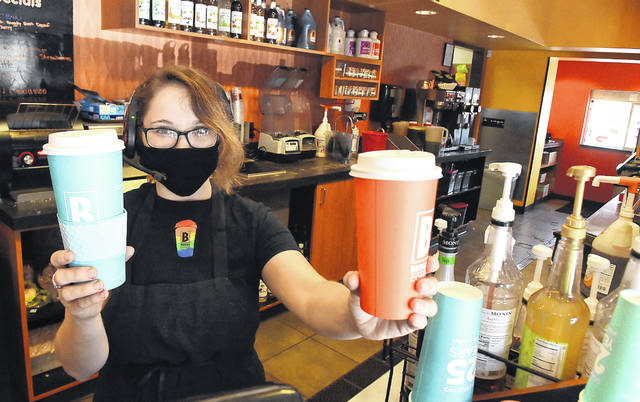 Emily Moore at Biggby Coffee in Lima.