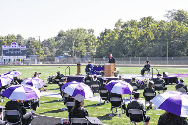 Dr. David Yost gave the commencement address Saturday at Bluffton University.