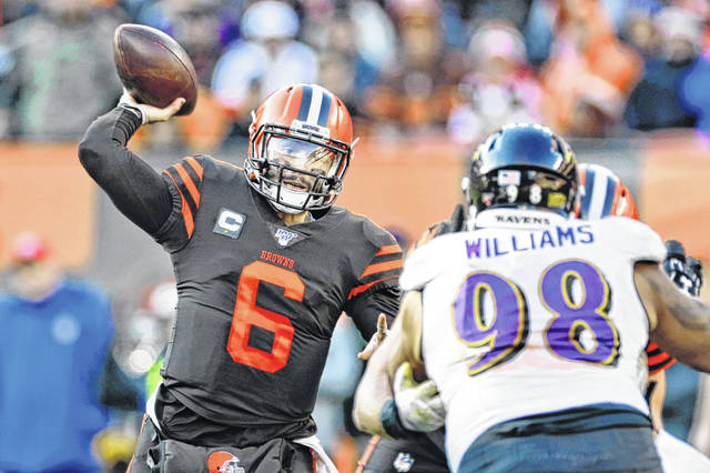 The Cleveland Browns have never been to a Super Bowl, but their fans are as loyal as any you'll find. The Browns were voted the region's favorite pro football team. Quarterback Baker Mayfield, above, gives Browns' fans hope that a Super Bowl is near.