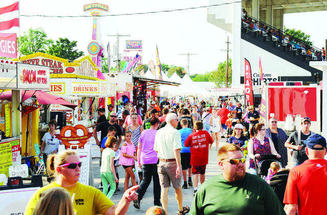 A view from last year's Auglaize County Fair.