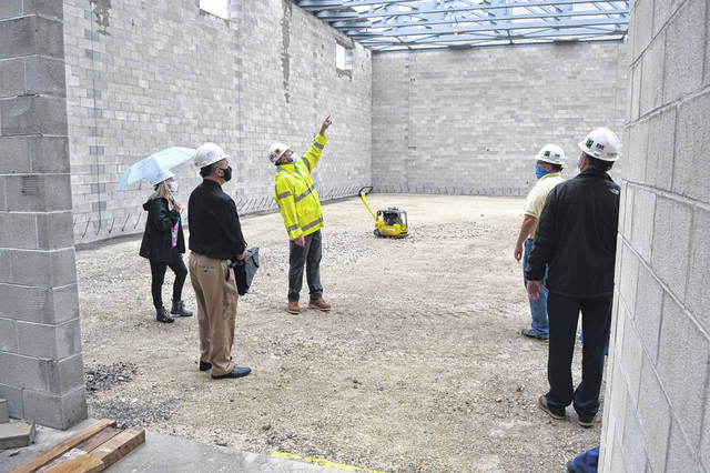 Elida school board members got a chance to tour the Elida Elementary construction site Tuesday, prior to their regular meeting.