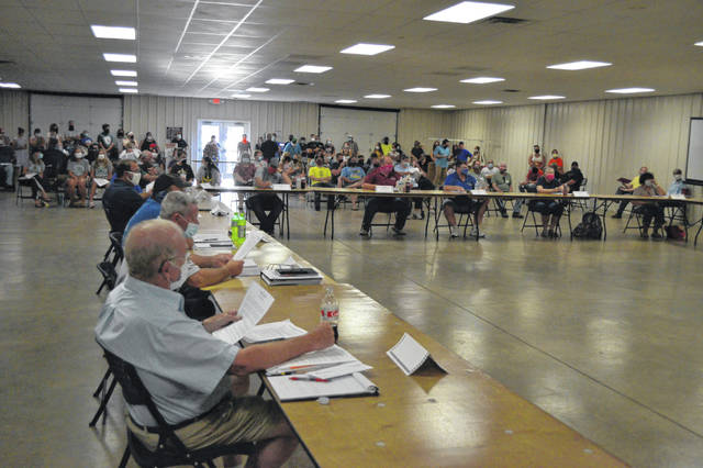 The Junior Fair Building was full for the Allen County Fair Board's meeting Wednesday night as they dealt with decisions concerning this year's fair.