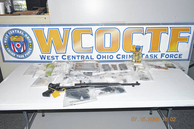 The West Central Ohio Crime Task Force seized numerous drugs and weapons from a home at 705 Michael Avenue.