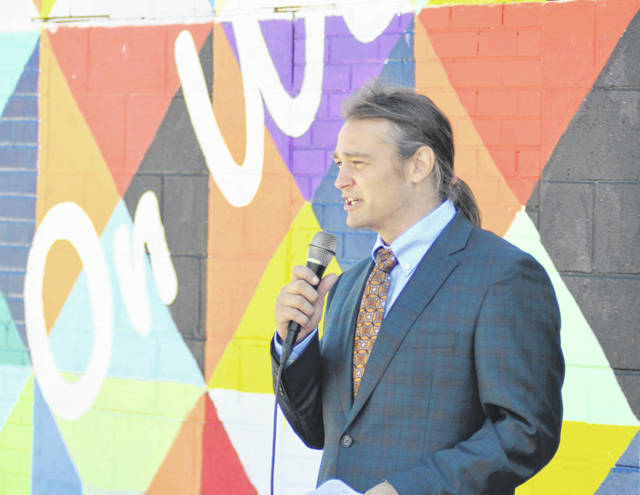 Joshua Hayes, a local chiropractor and business owner, held his first mayoral campaign event Wednesday where he outlined his vision for Lima.