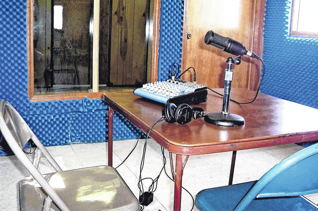 The setup used in the early days of Holy Family Radio.