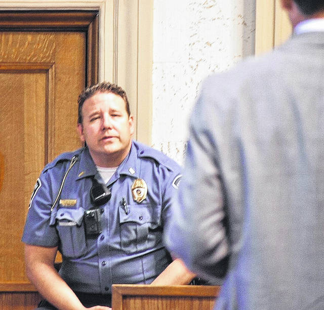 Lt. Josh Strick, of the Ottawa Police Department, testified Monday in the trial of Kenneth Richey. Richey is accused of retaliation and other charges linked to threats prosecutors say he made against former Putnam County Assistant Prosecuting Attorney Randall Basinger.