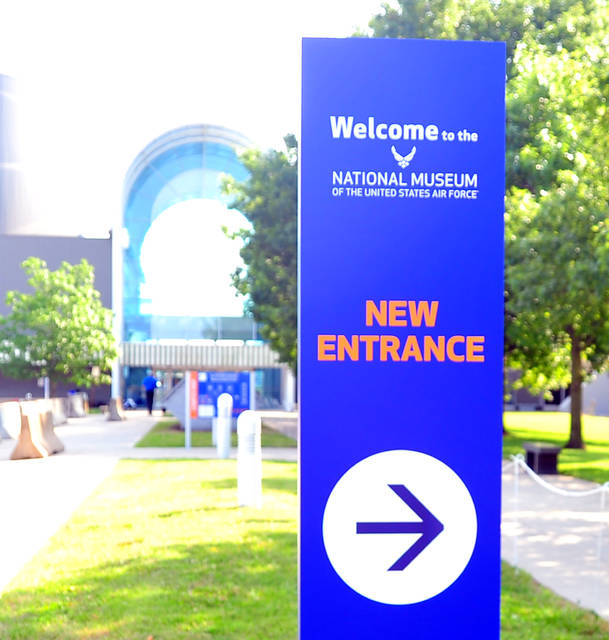 Some changes await visitors to the NMUSAF, including a new front entrance and mandatory wearing of masks. The changes are all being made in order to allow the popular destination to remain open to visitors as we continue to navigate the COVID situation.