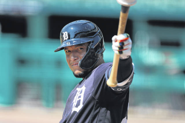 Miguel Cabrera of the Detroit Tigers is a four-time batting champ and a two-time MVP. He enters the season with a career .315 batting average, including 477 lifetime home runs.