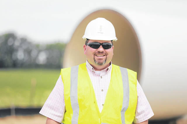 "Jason Dagger manages the building of the Scioto Ridge Wind Farm. ""There's lots of customers that want to see renewable energy,"" Dagger said."