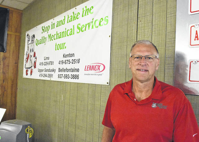 Bob Hare, owner of Quality Mechanical Services in Lima.