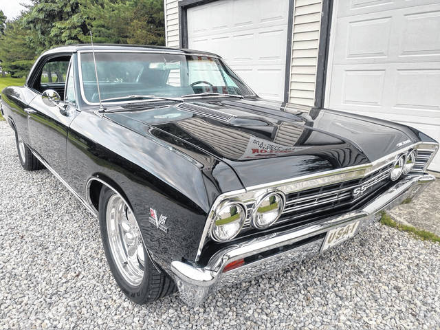 Tom Evans, of Lima, purchased the 1967 Chevy Chevelle Super Sport after Gary Allen's death. It has a 396 big block engine and four-speed transmission, with all numbers matching on it.