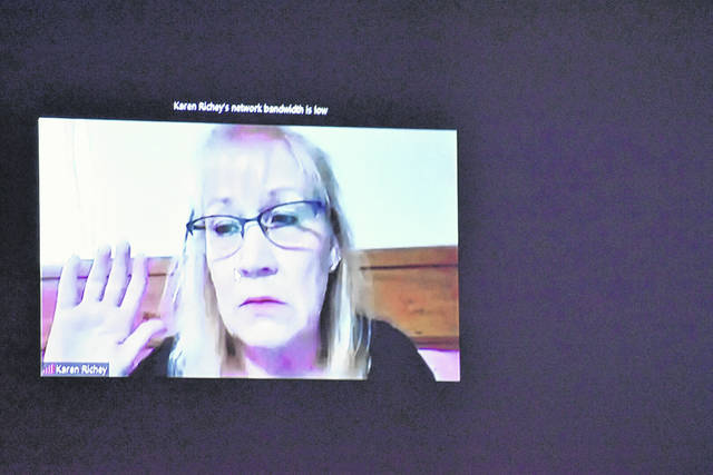 Karen Richey, Kenneth Richey's ex-wife, testified via Zoom from Mississippi during Tuesday's second day of a trial. The woman recently tested positive for COVID-19 and was permitted to testify via video link.