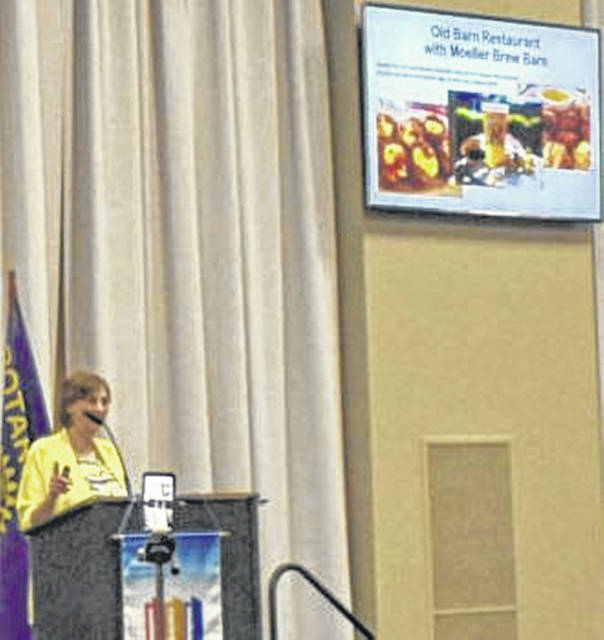 """Tina Koester from the Convention and Visitors Bureau presented """"Never Have I Ever,"""" an activity showing Allen County from a visitor's perspective at Monday's Lima Rotary Club Meeting at the Veterans Memorial Civic Center."""