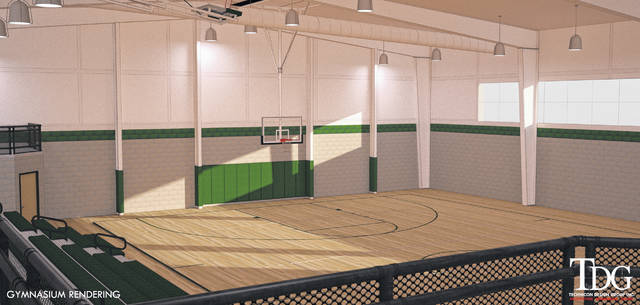 An artist's rendering shows what the new gymnasium would look like at SS. Peter & Paul School in Ottawa.