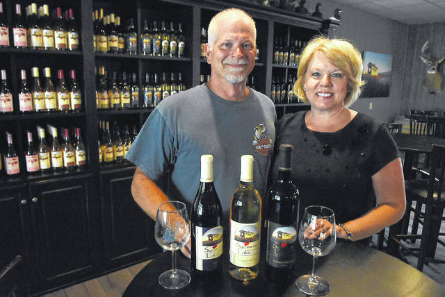 Owners Jeff and Janice Hanneman at Sycamore Lake Wine Co.
