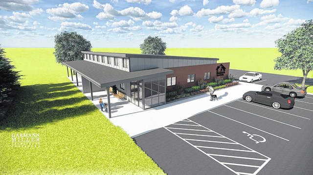 Design plans for the proposed new Van Wert County Humane Society on Fox Road.