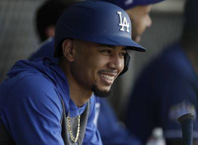 Mookie Betts enters his first season with the Los Angeles Dodgers and final season before free agency. AP photo