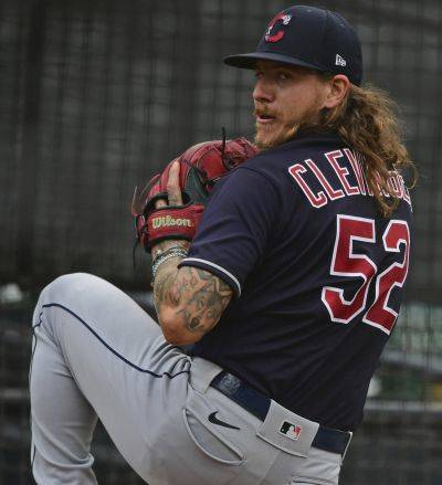 The Cleveland Indians' Mike Clevinger is part of a starting rotation that no longer includes two-time Cy Young winner Corey Kluber, who was traded to Texas during the offseason (AP Photo)