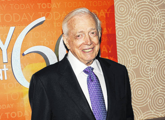 """Hugh Downs, shown Jan. 12, 2012, during the """"Today"""" show's 60th anniversary celebration, died Thursday of heart failure."""