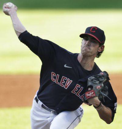 The Indians' Shane Bieber struck out 14 over six innings in a 2-0 victory Friday night against Kansas City in Cleveland. (AP photo)
