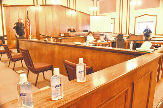 Social distancing was put into practice and hand sanitizer was everywhere during a jury trial held Tuesday in Allen County. The county's first such trial in the coronavirus era was held in a long-vacant room on the fourth floor of the county courthouse.
