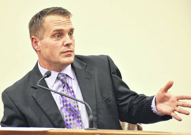 "Lima Police Department Detective Steve Stechschulte testified during Thursday's hearing. At issue is the state's plan to use Stechschulte as an ""expert"" witness in gang activities at the trial of Eric Wilson."