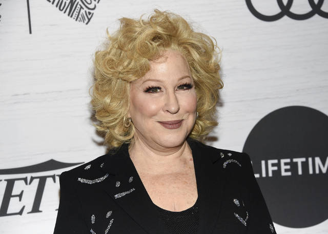 "FILE - Bette Midler attends Variety's Power of Women: New York on April 5, 2019, in New York. Midler is using words and pictures to tell a New York story. Random House Books for Young Readers said Thursday that Midler's picture book will be called ""The Tale of the Mandarin Duck."" It will be published Feb. 16. (Photo by Evan Agostini/Invision/AP, File)"