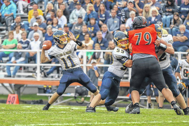 Ottawa-Glkandorf's Jacob Balbaugh (11) helped guide the Titans to the playoffs in 2019 and is looking to do the same this year.