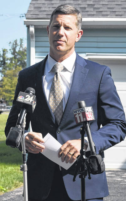 FBI Special Agent Eric Smith held a press conference in Findlay on Tuesday morning to announce the arrest of Father Michael Zacharias.
