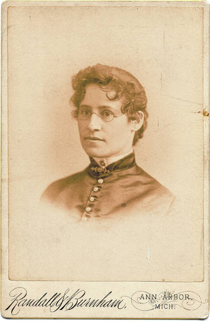 Dr. Anna Goebel was Lima's first female physician. This portrait was made in Michigan, where she went to college.