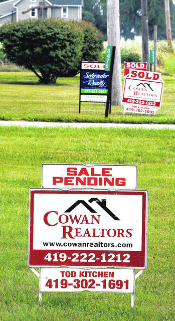 Sold and sale pending signs along Ottawa Road.