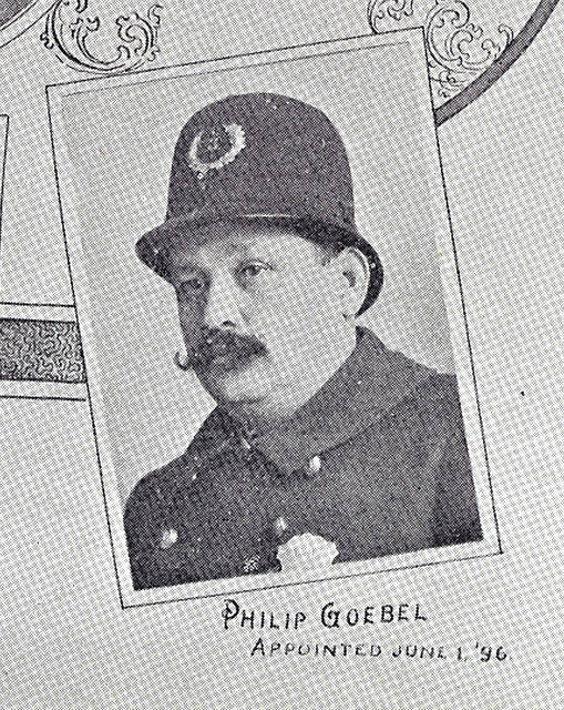 Philip Goebel, included in an 1897 composite photo of those on the Lima Police Department.