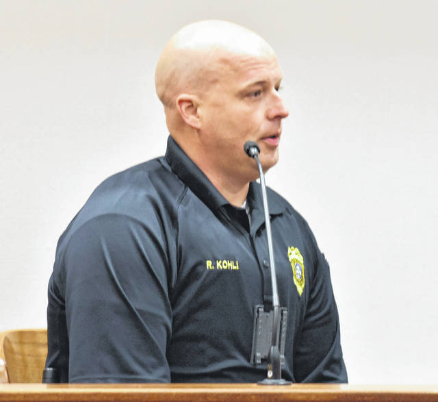 Sgt. Rob Kohli of the Shawnee Police Department testified Monday during a suppression hearing for Frank Steinke, the Elida man charged with aggravated vehicular homicide for causing the death in a traffic accident of Wapakoneta resident Nicole Schulte.