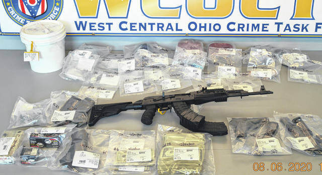 Pictured are some of the items recovered during the recent execution of search warrants by the West Central Ohio Crime Task Force at two homes in Lima.