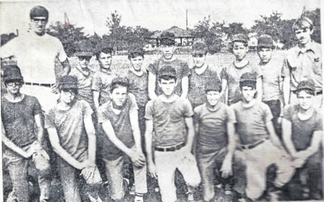 The 1970 Braves team included, front row from left, Joe Raymond, Tim Falk, Dan Moening, Mike Mowery, Kevin Mangas, Jay Sheets and Charley Gasperetti; and back row from left, coach Pete Linneman, Jim Graham, Kevin Tierney, Jeff Bailey, Dave Nartker, Matt Linneman, Denny Vondrell, Chris Moore and coach Tom Cullen. Not pictured were players Scott Cygan, Tim Donovan and Tom Wukusick and coaches Gary Bohnlein, Don Cygan and Jim Falk.